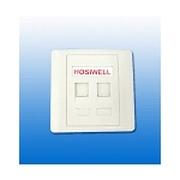 HOSIWELL 国际防尘双口面板(20012-WH)