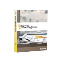 微软 FrontPage 2003(标准版)产品图片主图
