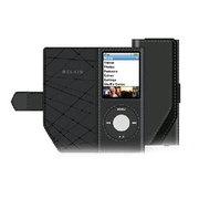 贝尔金 ipod nano5代翻盖牛皮套(黑色)F8Z510qe