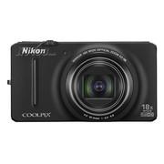尼康 S9200 数码相机 黑色(1602万像素 3英寸液晶屏 18倍光学变焦 25mm广角)