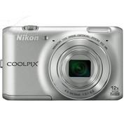 尼康 S6400 数码相机 银色(1602万像素 3英寸液晶屏 12倍光学变焦 25mm广角)
