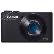 佳能 S110 数码相机 黑色(1210万像素 3英寸触摸屏 5倍光学变焦 24mm广角)