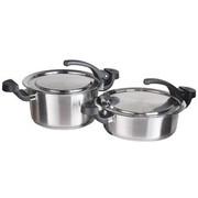 德世朗 DESLON摩登三节多用A型汤炒两件套锅