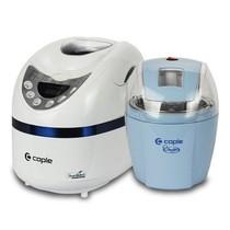 其他 客浦(caple)冰淇淋机甜蜜营养超值套装(冰淇淋机+面包机)CA-TZ001 蓝色产品图片主图