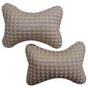 利特尔 高档冰丝透气颈枕/耐磨抗皱可拆洗透气性好 对装*2个咖色