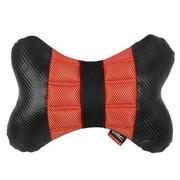 WRC 汽车颈枕 汽车头枕 骨头枕 运动时尚 奢华碳纤风格 红色