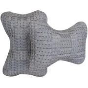 利特尔 高档冰丝透气颈枕/耐磨抗皱可拆洗透气性好 对装*2个灰色