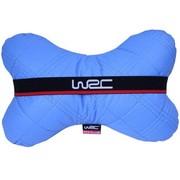 WRC 汽车颈枕 汽车头枕 骨头枕 超柔软纤皮材质 蓝色