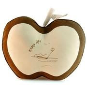 爱车屋 苹果抱枕(杏色+咖啡色)