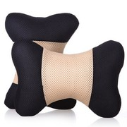 利特尔 三明治舒适透气车用头枕/汽车颈枕对装*2个 米黑色