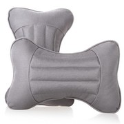 利特尔 四季保健养生水晶纱车用头枕/汽车颈枕对装*2个 灰色
