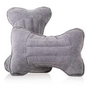 利特尔 四季保健养生玉米绒车用头枕/汽车颈枕对装*2个 灰色