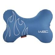 WRC 汽车颈枕 汽车头枕 骨头枕 激情火焰 蓝色 运动时尚 防水透气材质