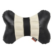 WRC 汽车颈枕 汽车头枕 骨头枕 运动时尚 奢华碳纤风格 米色
