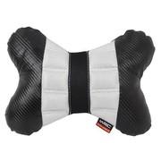 WRC 汽车颈枕 汽车头枕 骨头枕 运动时尚 奢华碳纤风格 灰色