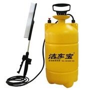 洁车宝 HY1014 多功能便携式手动洗车器 12.5L 黄色