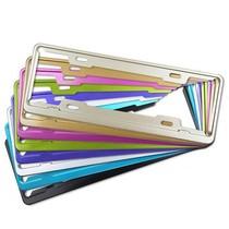 迪加伦 英非特 国标新交规车牌架 航空永不生锈铝合金彩色牌照框 紫色产品图片主图