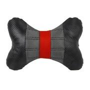 WRC 汽车颈枕 汽车头枕 骨头枕 运动时尚 奢华碳纤风格 黑色