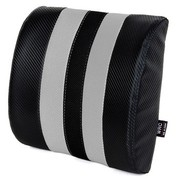 WRC 太空记忆棉慢回弹腰靠垫 奢华碳纤风格汽车腰枕(灰色)