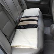 WRC 汽车空调被 抱枕被子 家庭办公皆用 奢华碳纤风格 米色