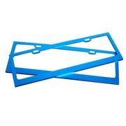其他 沿途021 优质镁合金车牌架 不生锈汽车牌照框 车牌框可拆 一对装 蓝色