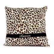 爱车屋 K171116 方形抱枕 (豹纹 黑色)