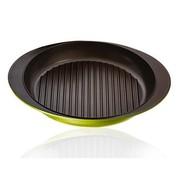 赛普瑞斯 韩国进口 蕊系列天然石涂层不粘双耳煎锅 30cm 带锅盖 绿色