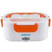 欧科 OKF-40F  电热保温饭盒 送餐具    白色+桔色
