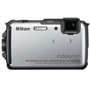 尼康 AW110s 数码相机 银色(1605万像素 3英寸液晶屏 5倍光学变焦 28mm广角)