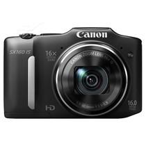佳能 SX160 IS 数码相机 黑色(1600万像素 3英寸液晶屏 16倍光学变焦 28mm广角)产品图片主图