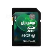 金士顿 SDXC卡 Class10(64GB)SDX10V/64G