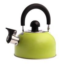 花色(Stylor) 迷你开水壶 烧水壶 优质不锈钢彩色 厨房用品 电磁炉通用 响水壶 绿产品图片主图