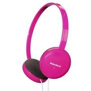 SANWA MM-HPST01P 玫瑰红炫彩头戴式耳机 抗干扰高保真、头箍可伸缩