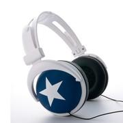 其他 星星耳机(MIX-STYLE)头盔式耳机 白星星款(5款颜色可选) 蓝底