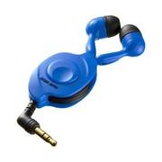 其他 山业SANWA SUPPLY MM-HP106 卷线器收纳入耳式耳机 适用于iPad、mp3、电脑等 3种耳罩可选 蓝色