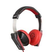 海威特 HV-M700 时尚音乐耳机 立体声耳机 头戴式电脑语音耳机 黑红色