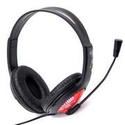 海威特 H250 头戴式电脑游戏/音乐耳机带(金属)麦克风话筒 (红色)