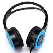 海威特 H230 头戴式电脑游戏/音乐耳机带隐形麦克风 (亮丽蓝)