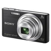索尼 DSC-W730 数码相机 黑色(1610万像素 2.7英寸屏 8倍光学变焦 25mm广角)