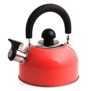 花色(Stylor) 迷你开水壶 烧水壶 优质不锈钢彩色 厨房用品 电磁炉通用 响水壶 红