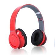 冲击波 SHB-906BH 包耳头戴式蓝牙耳机 HiFi立体声 可折叠+内置麦克风 活力红