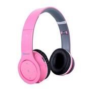 冲击波 SHB-906BH 包耳头戴式蓝牙耳机 HiFi立体声 可折叠+内置麦克风 闪亮粉