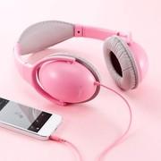 SANWA 山业 MM-HPST02 头戴式折叠耳机 封闭型 高保真 淡粉