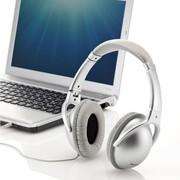SANWA 山业 MM-HPST02 头戴式折叠耳机 封闭型 高保真 时尚银