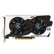 蓝宝石 HD7770 黑钻版 2G 1100/4500MHz 2GB/128bit GDDR5 PCI-E 显卡