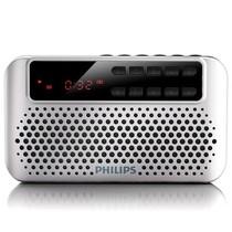 飞利浦 SBM120SLV/93 便携式插卡音响 FM收音机(银色)产品图片主图