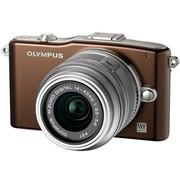 奥林巴斯 E-PM1 微单套机 棕色(M.ZUIKO DIGITAL 14-42mm f/3.5-5.6 II R 镜头)