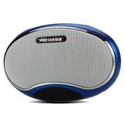 酷道 A1迷你音箱便携式插卡电脑音响 读取TF卡MP3式插U盘耳机音响带锂电 蓝色