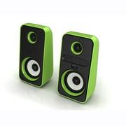 理肤泉 奥莱克(Alllike) ALK-PC21 USB数码音箱 笔记本音响 手机音响 电脑音箱 绿色