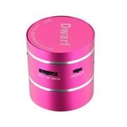 魅动e族 Dwarf-5神奇小矮人迷你插卡音响 共振音响 内置锂电池 电脑音响 粉色
